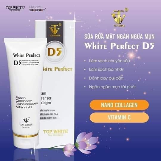 Sữa rửa mặt White Perfect D5 Top White