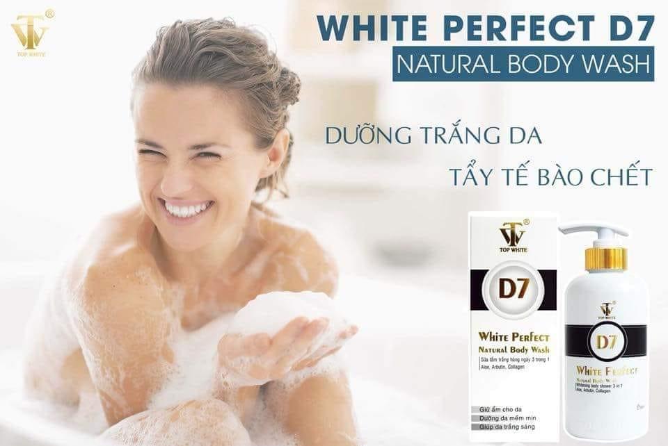 Sữa tắm trắng Top White D7