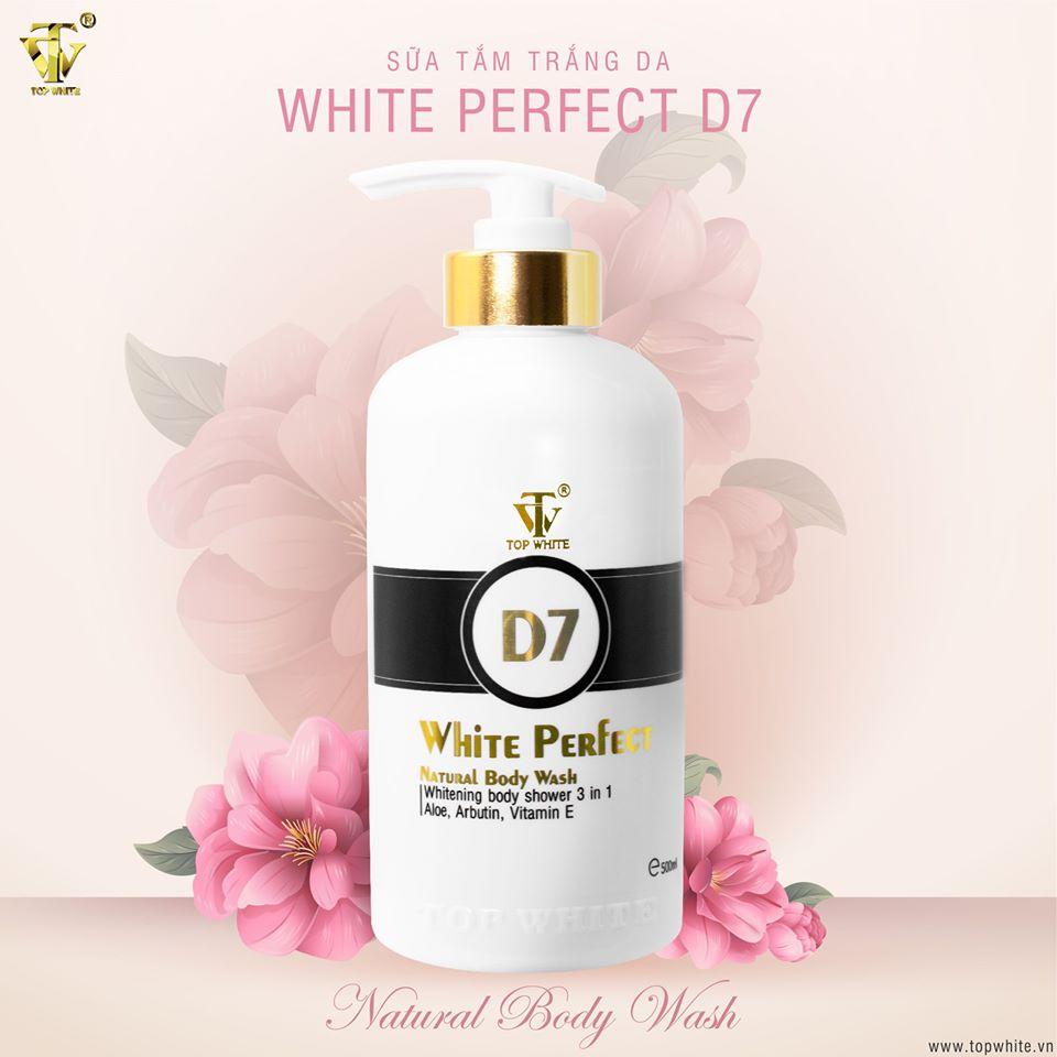 Công dụng của sữa tắm Top White D7
