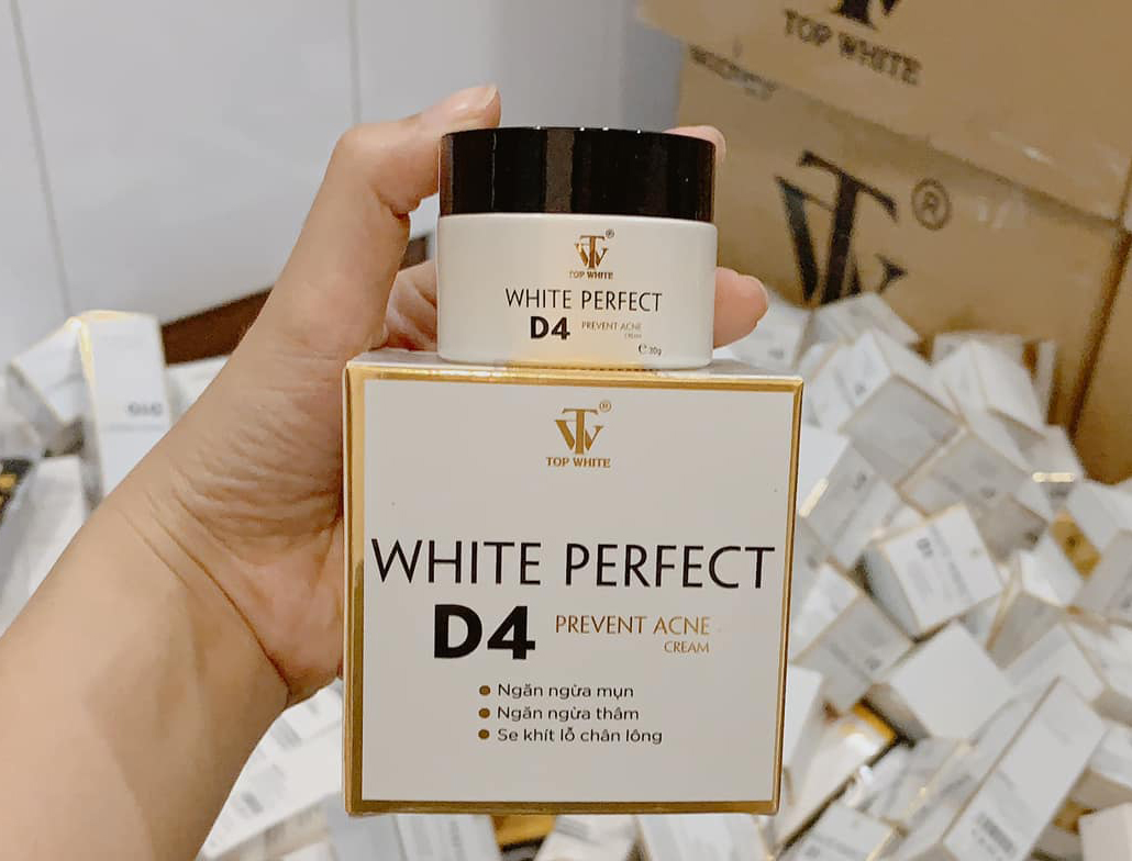 Kem trị mụn White Perfect D4 Top White